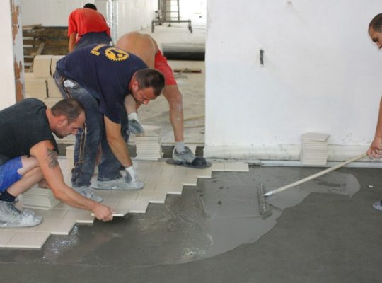 Етап вториот полагане на подова настилка от креатив м